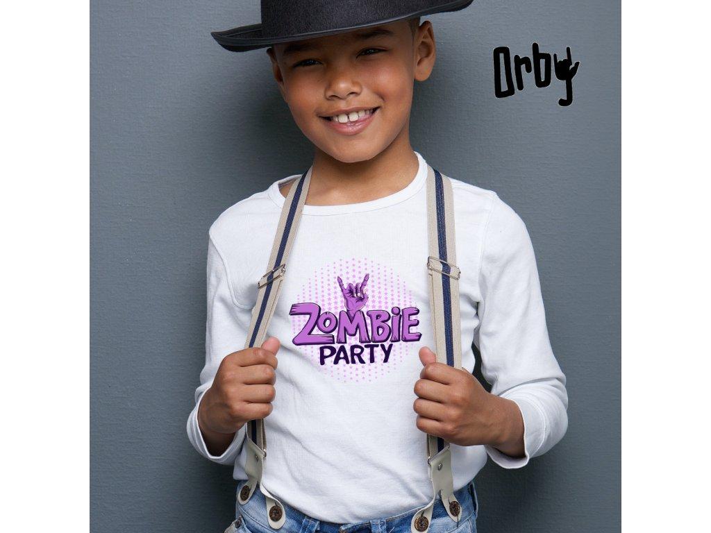 Dětské tričko s potiskem zombie party, body