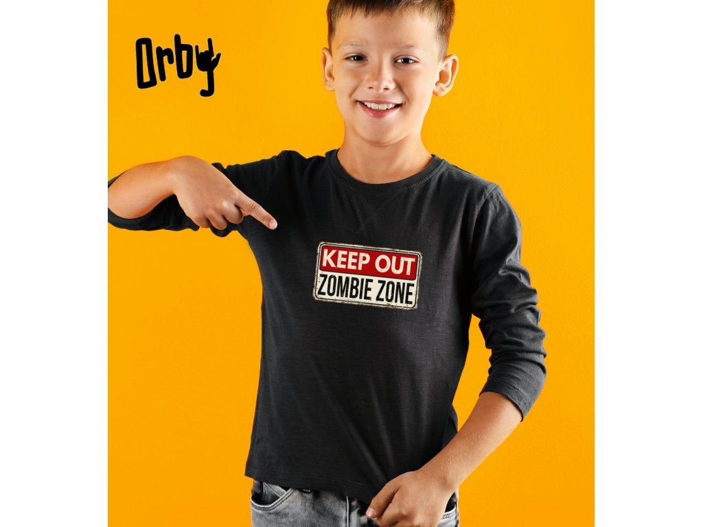 Dětské tričko s potiskem zombie zone body