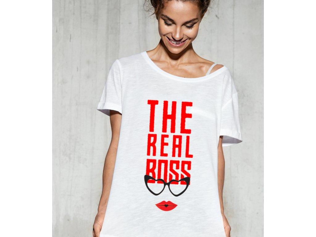 dámské tričko s potiskem the boss body woman