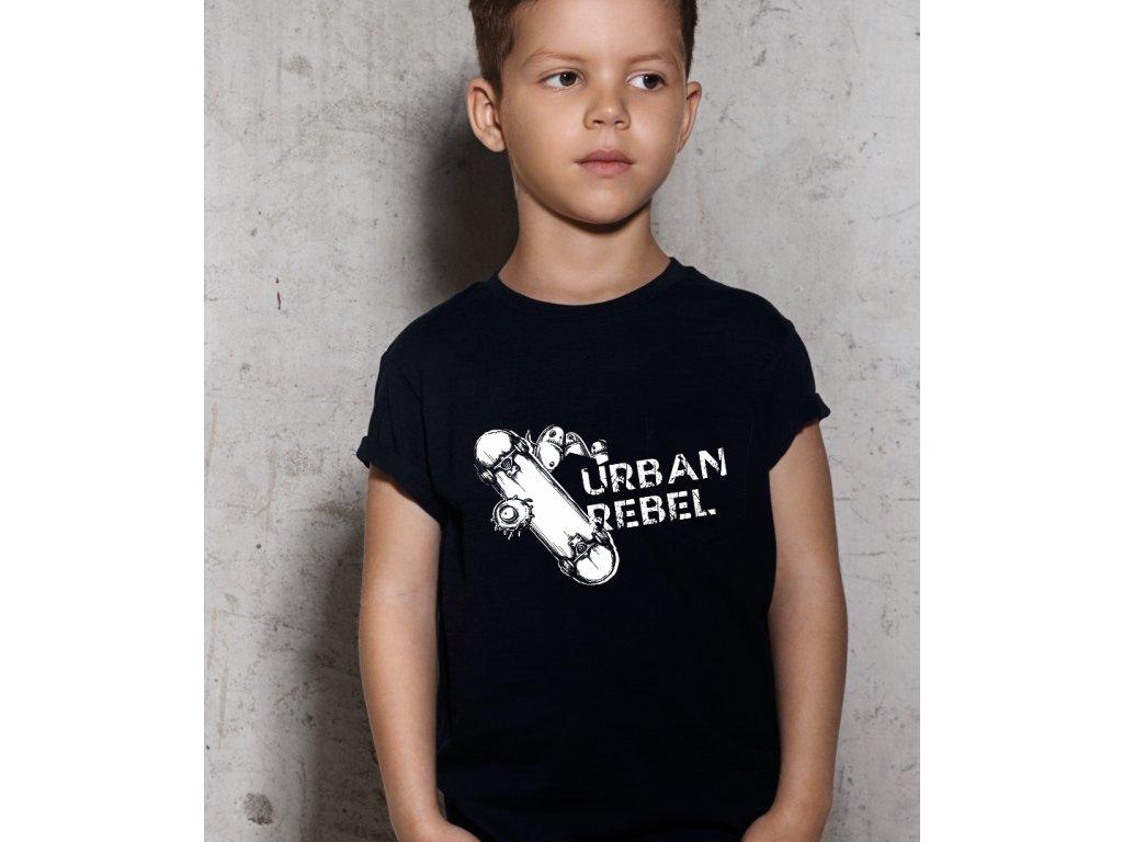 Chlapecké tričko s potiskem URBAN REBEL, body