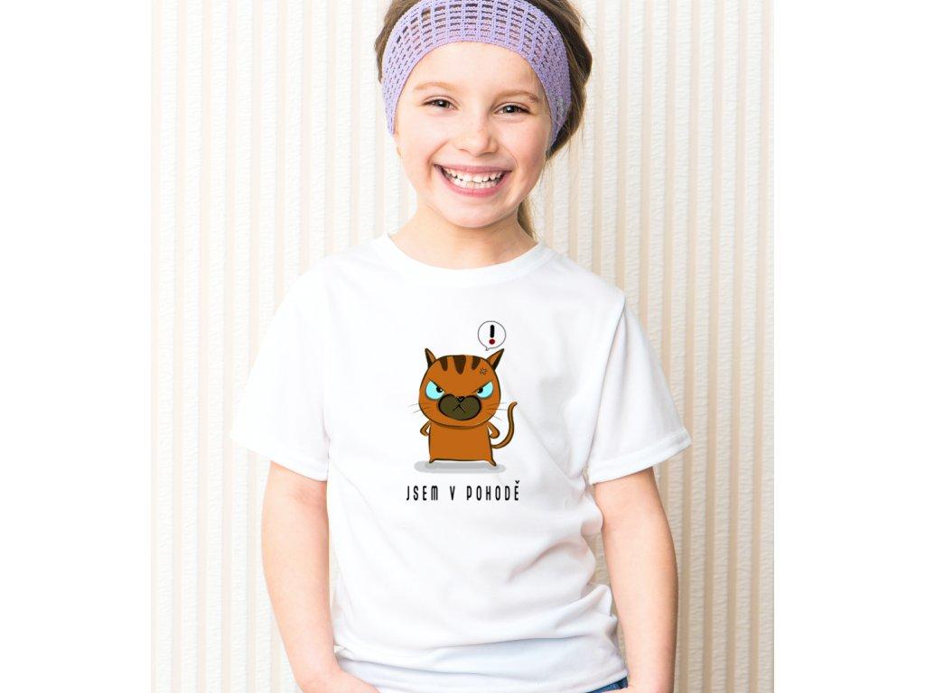 Dětské tričko s potiskem JSEM V POHODĚ