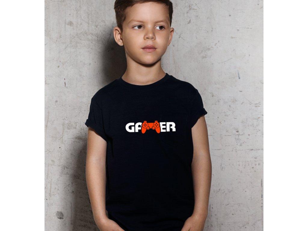 Dětské tričko s potiskem GAMER BODY