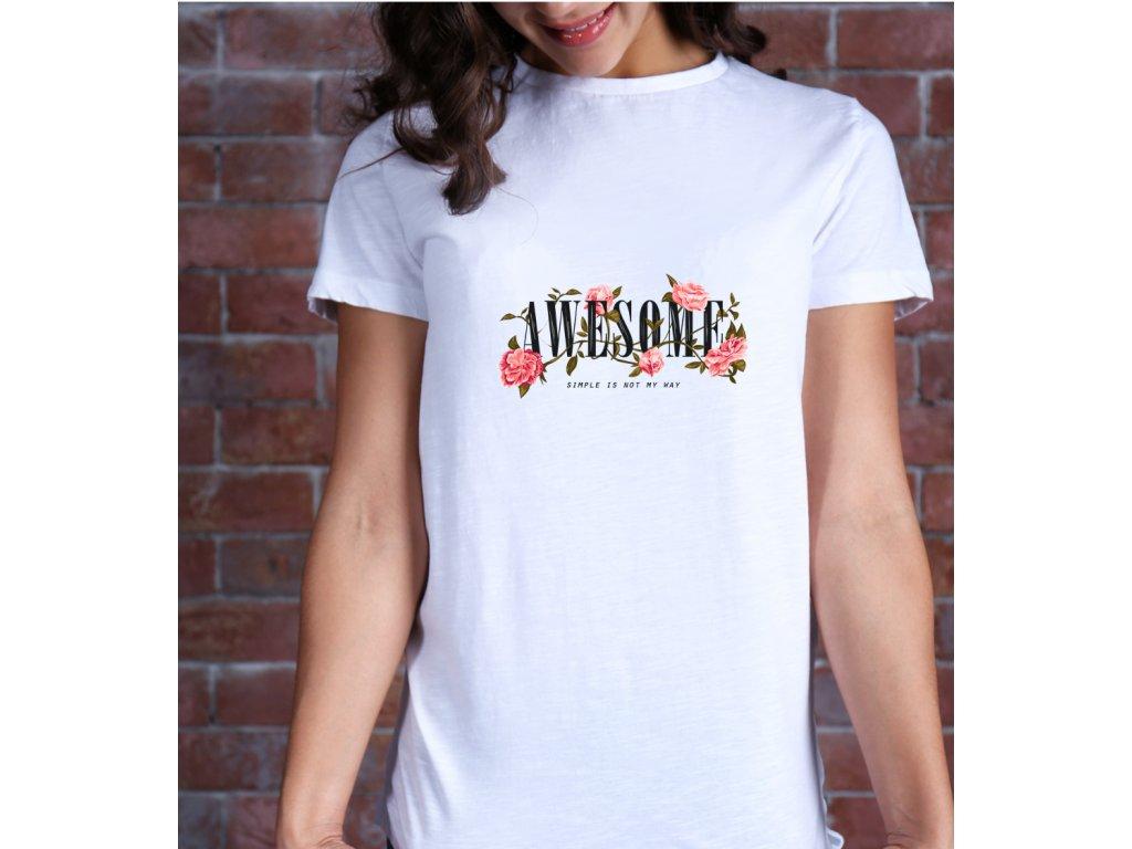 dámské tričko s potiskem Awesome