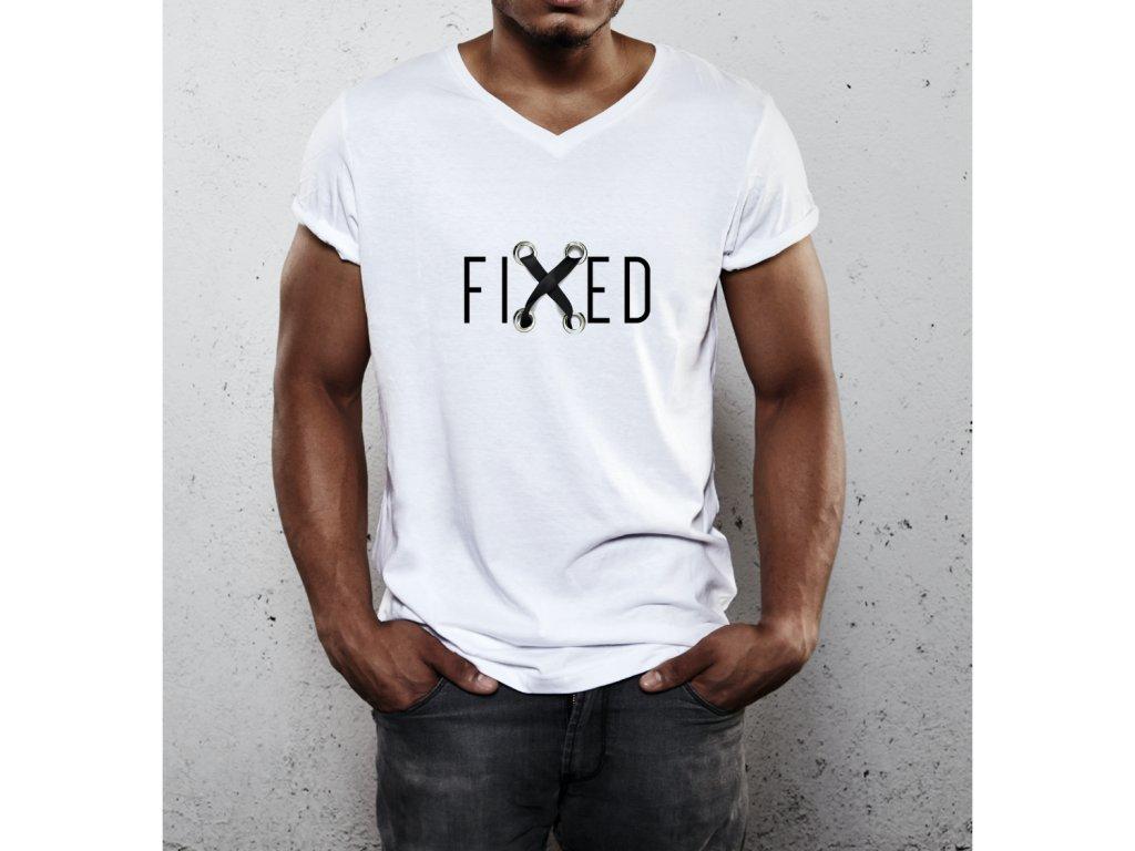 pánské tričko s potiskem fixed