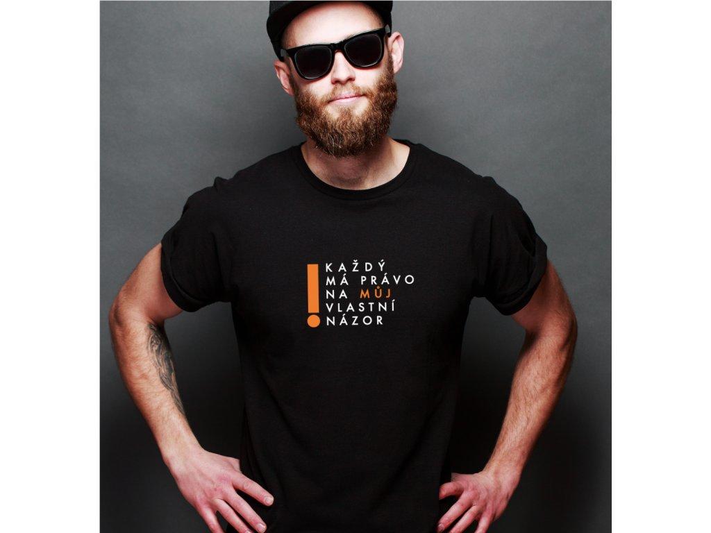 pánské tričko s potiskem PRÁVO NA MŮJ NÁZOR, BODY