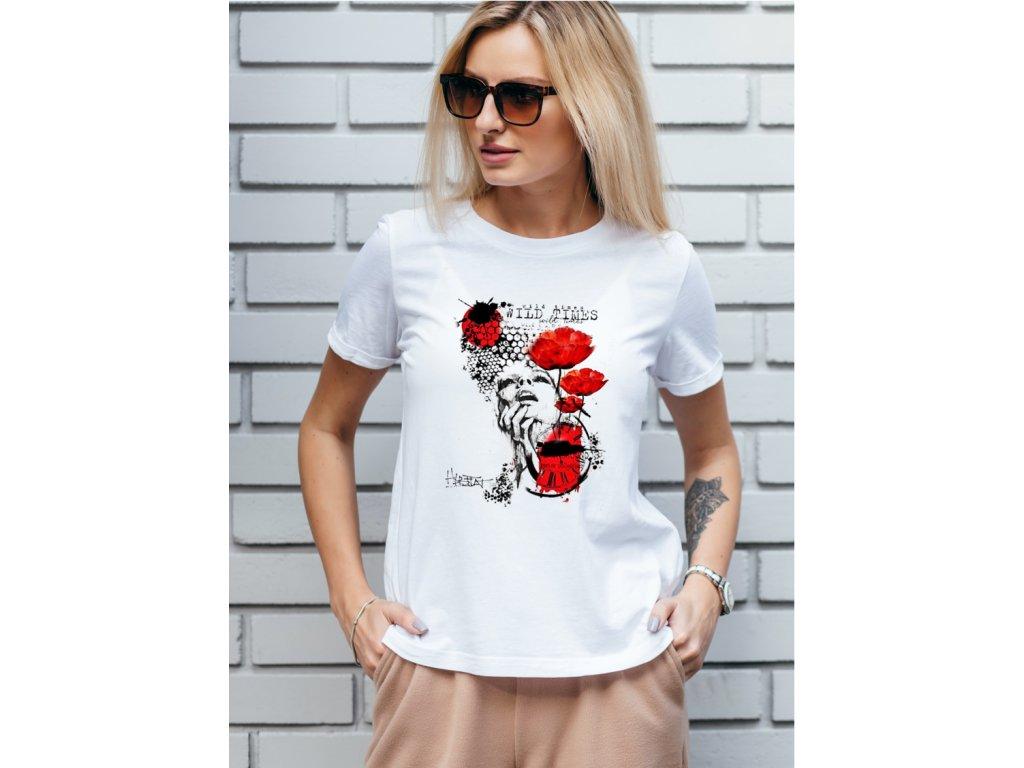 dámské tričko s potiskem wild times body