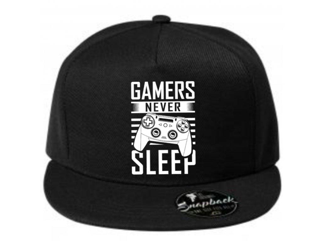 gamers never sleep čepice