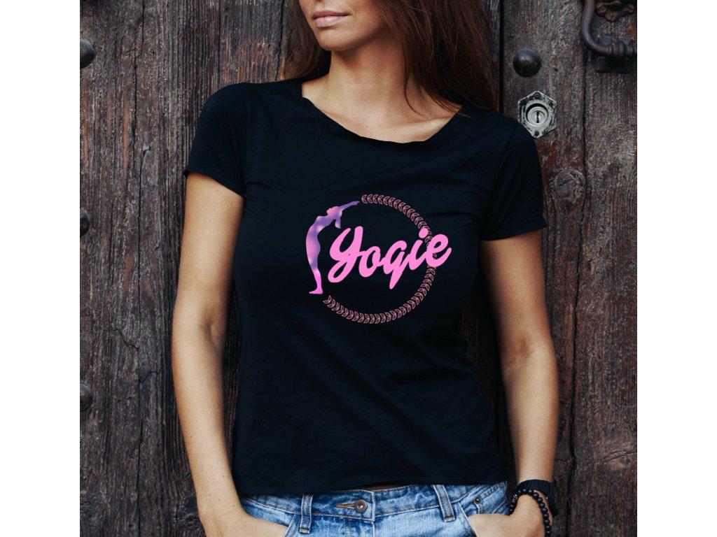 dámské tričko s potiskem yogie1