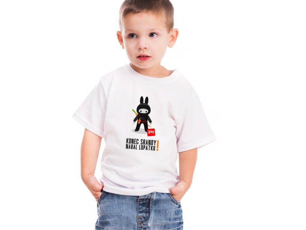 vtipné dětské tričko s potiskem naval lopatku body