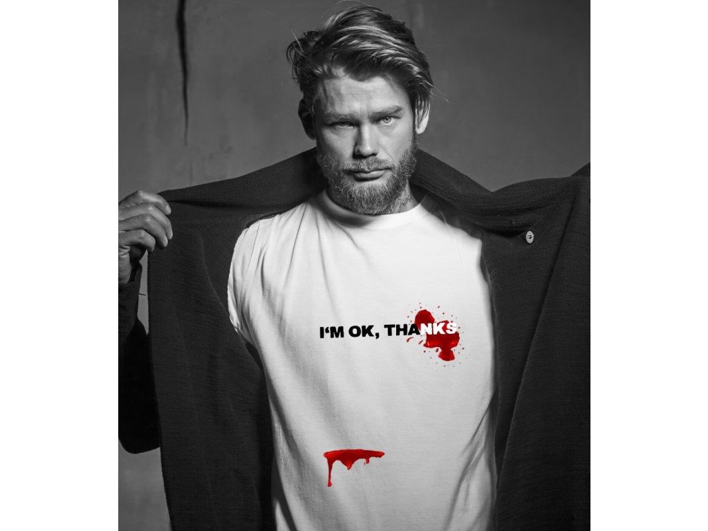 pánské tričko s potiskem I'M OK BODY