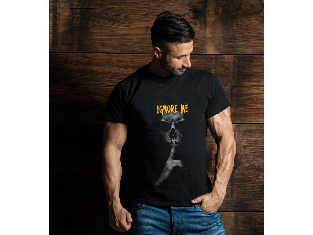 pánské tričko s potiskem IGNORE ME, B, BODY