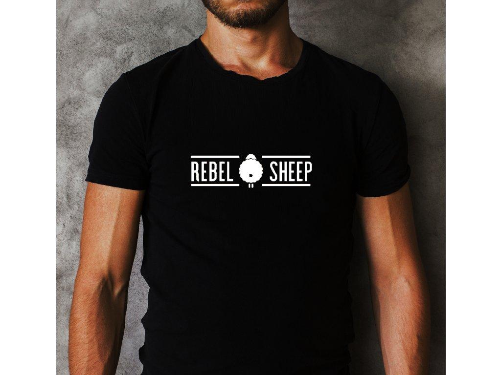 pánské tričko s potiskem REBEL SHEEP