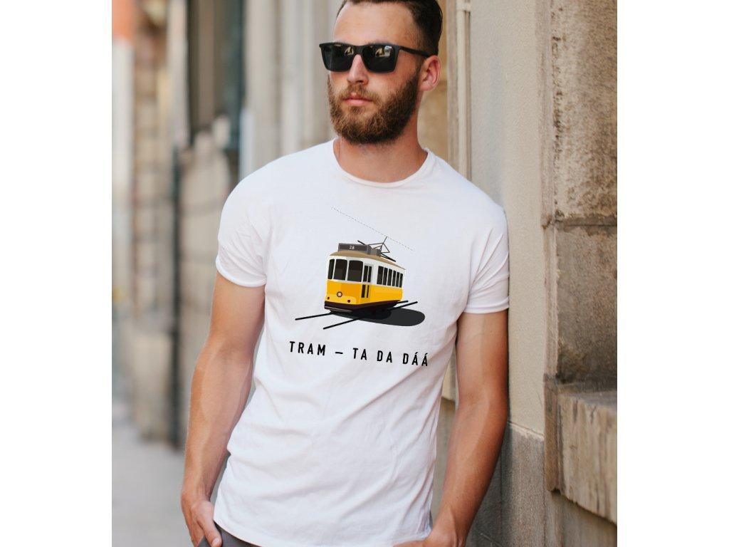 pánské tričko s potiskem TRAM TA DA DÁ, BODY
