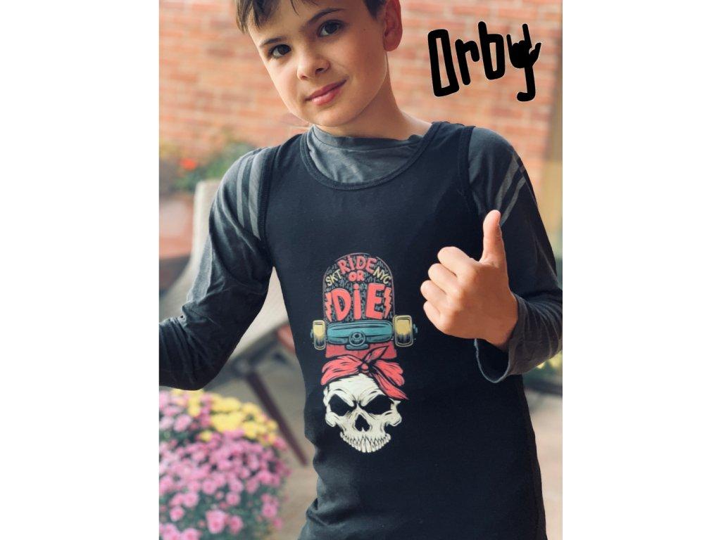 Chlapecké tričko s potiskem ride or die