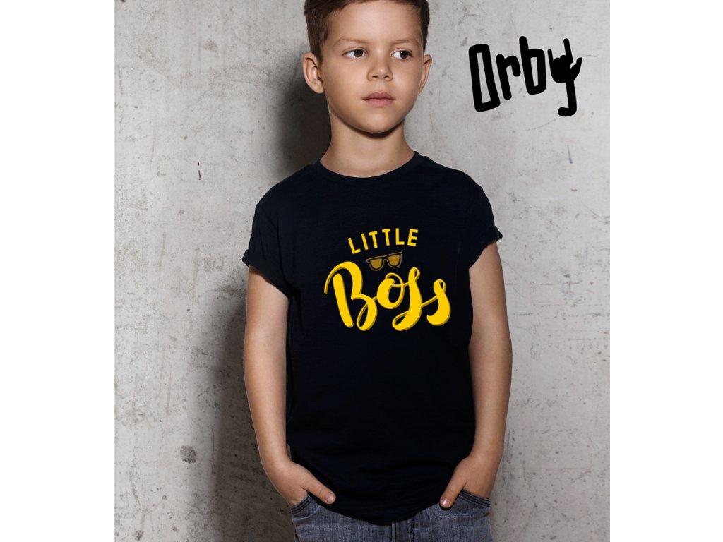 Dětské tričko s potiskem LITTLE BOSS