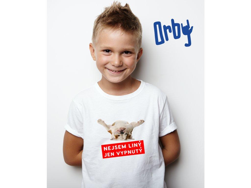 chlapecké tričko s potiskem NEJSEM LÍNÝ BODY 2