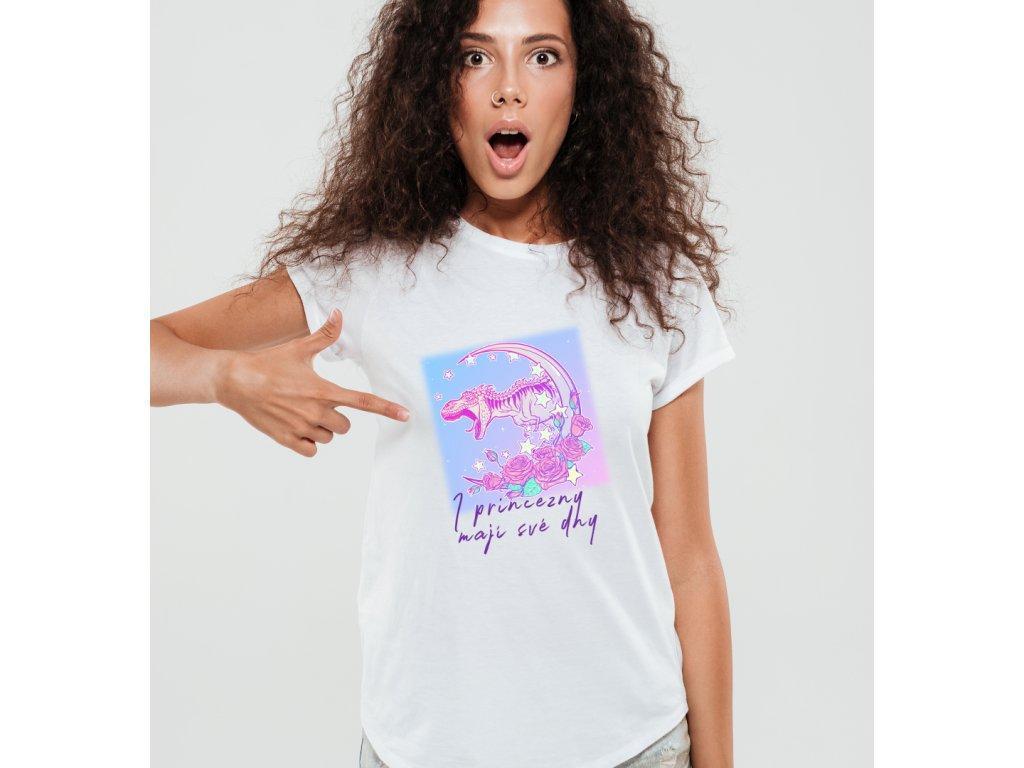 dámské tričko s potiskem i princezny
