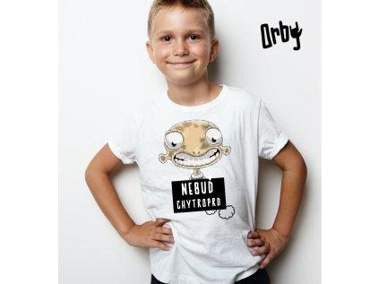Vtipné dětské tričko s potiskem CHYTROPRD BODY