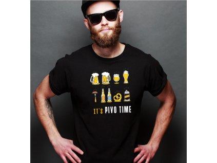 pánské tričko s potiskem PIVO TIME