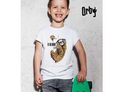 Dětské tričko s potiskem v kliduu, body