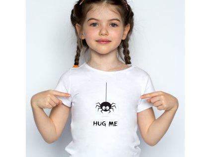 dívčí tričko s potiskem HUG ME, BODY