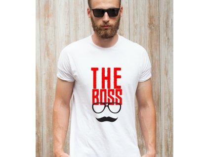 pánské tričko s potiskem THE BOSS the boss body man