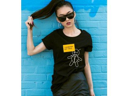 dámské tričko s potiskem THINKING OF U, W,B BODY