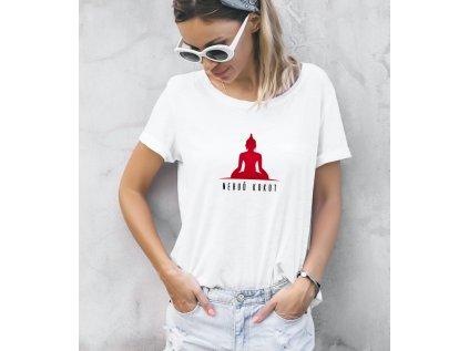 dámské tričko s potiskem nebuď kokot