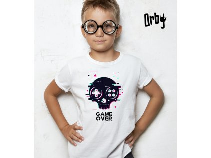 Dětské tričko s potiskem GAME OVER