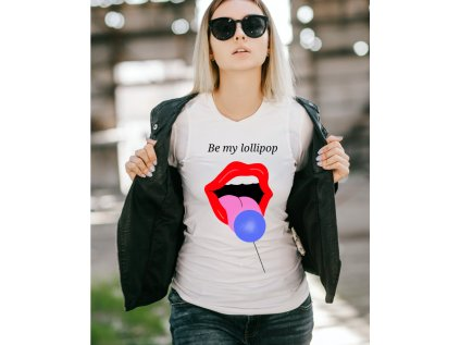 dámské tričko s potiskem lollipop