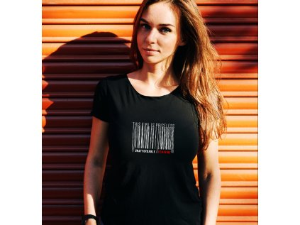 dámské tričko s potiskem priceless girl, body , black
