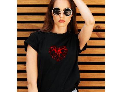 dámské tričko s potiskem HEART
