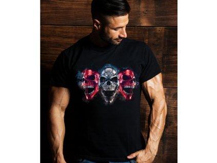 pánské tričko s lebkou 3 skulls body