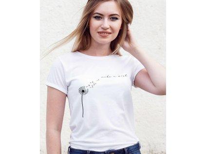 dámské tričko s potiskem make a wish body