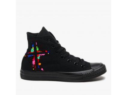 Pánské tenisky s potiskem barevný kříž, boty, M