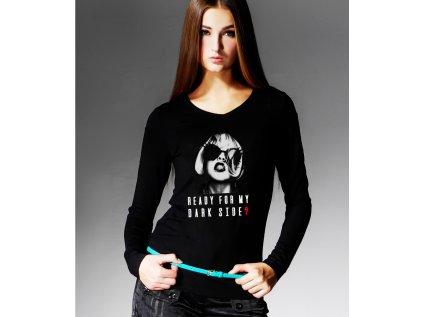 dámské tričko s potiskem READY FOR MY DARK SIDE?, BODY