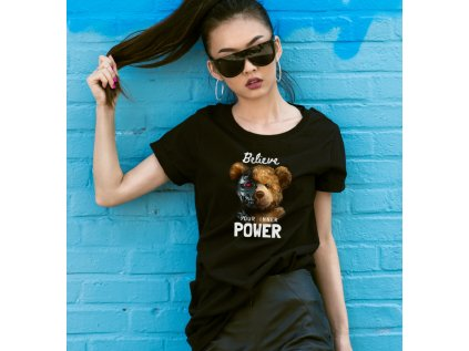 dámské tričko s potiskem YOUR INNER POWER BODY