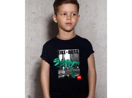 dětské tričko s potiskem LIKE A DINO BOSS BODY