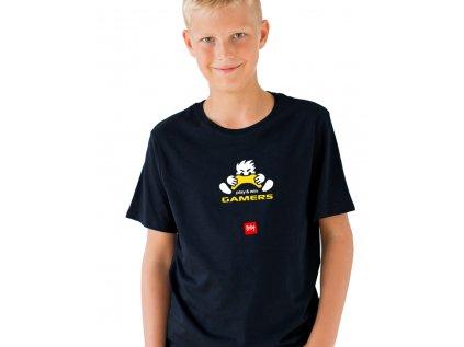 dětské tričko s potiskem play & win gamers body