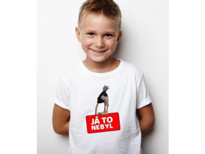 vtipné dětské tričko s potiskem JÁ TO NEBYL BODY
