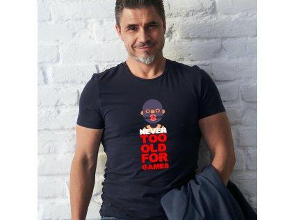 pánské tričko s krátkým rukávem NEVER TOO OLD MASK, BODY, B, M