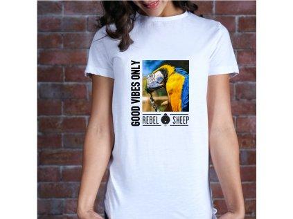 dámské tričko s potiskem GOOD VIBES ONLY, W W, BODY