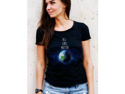 LEOVÁ MARTINA - dámské tričko s potiskem All lives matters