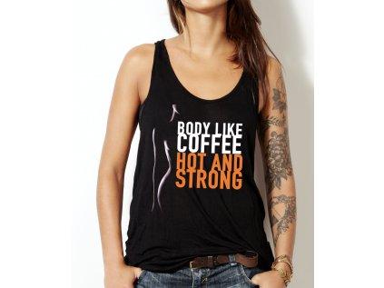 dámské tričko s potiskem bod like coffee, Kate
