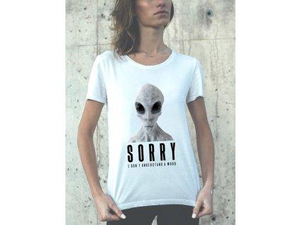 Dámské tričko s potiskem ALIEN - SORRY BRABUS, dámské tričko s potiskem UFO