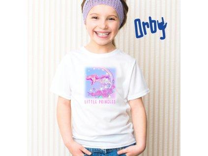 Dívčí tričko s potiskem LITTLE PRINCESS, BODY