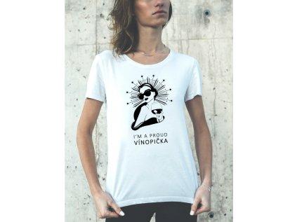 dámské tričko s potiskem vínopička body