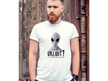 pánské tričko s potiskem ALIEN UKLIDIT