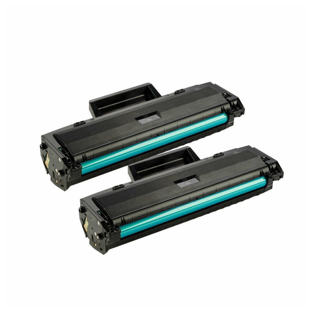 2 Black Toner For HP 107a 107w MFP
