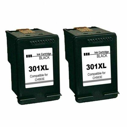 HP 301XL black kompatibil CH563EE dvojbalenie